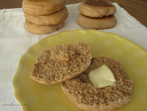 Honey Whole Wheat English Muffins