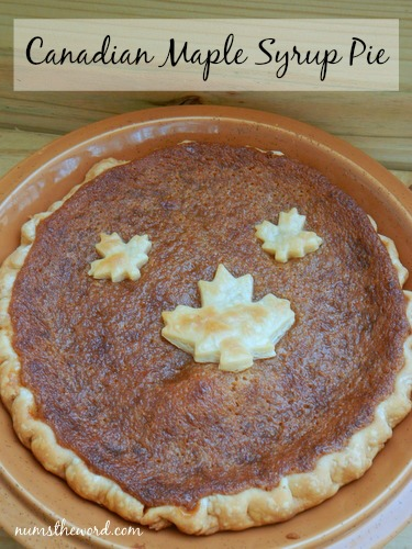 Canadian Maple Syrup Pie - NumsTheWord