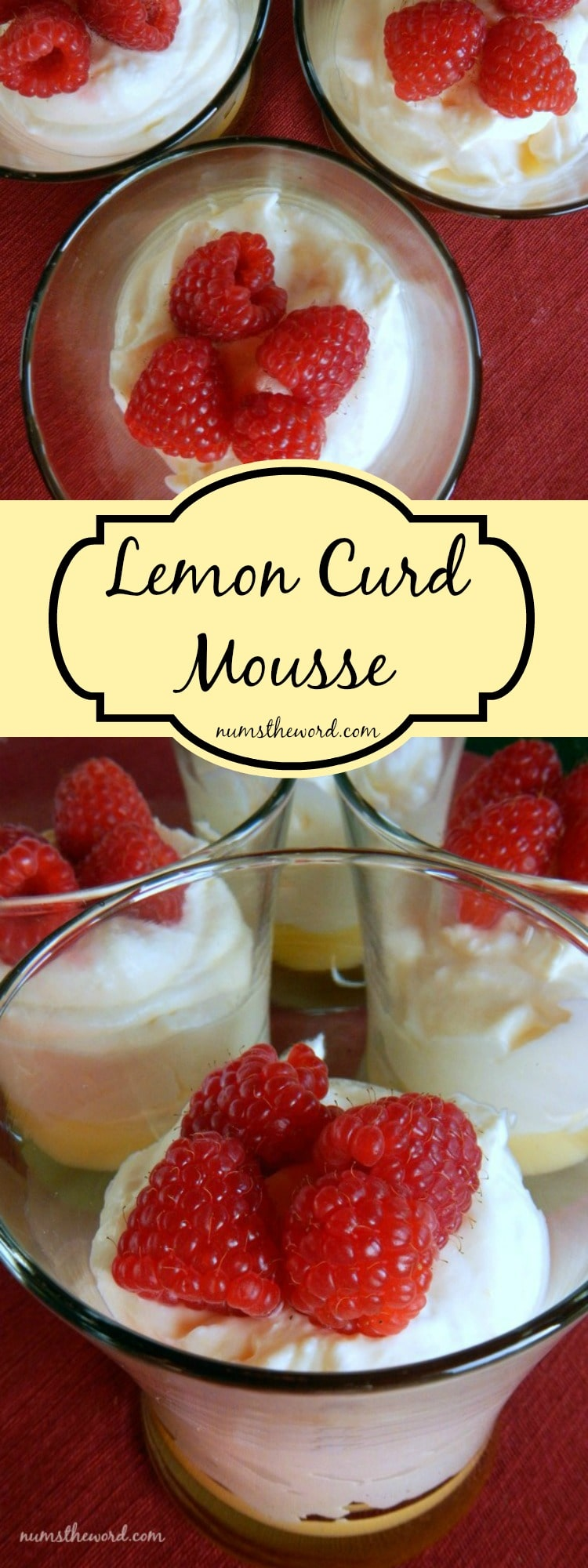 Lemon Curd Mousse LONG