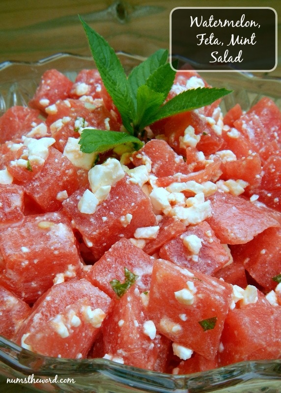 Watermelon Feta & Mint Salad