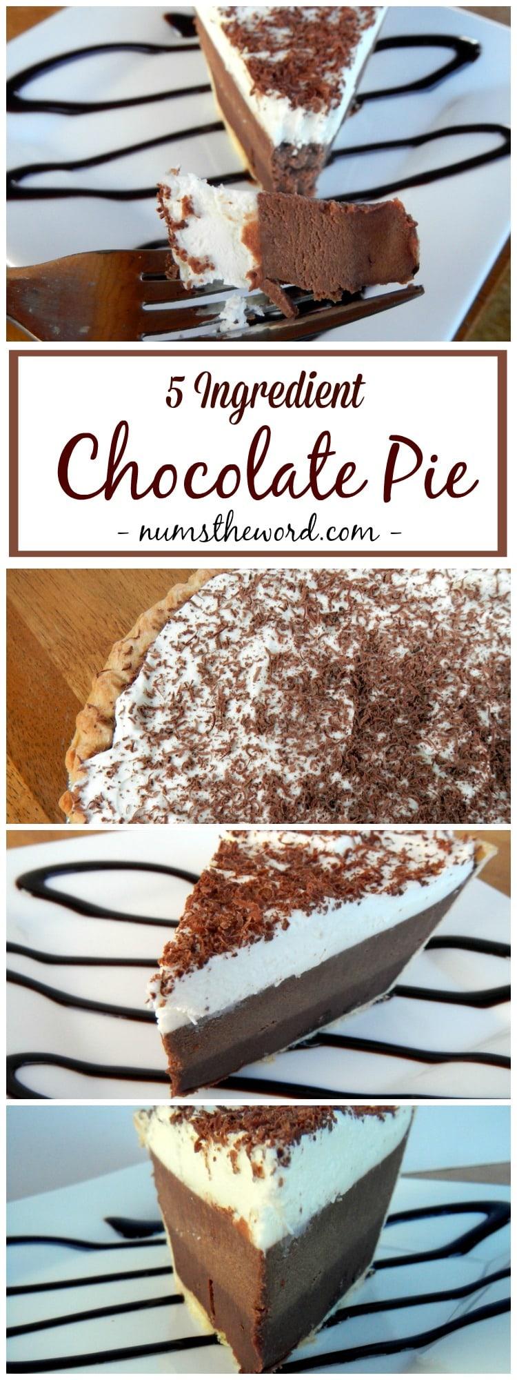 Easy Chocolate Pie - NumsTheWord