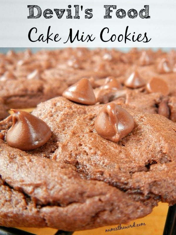 Devil's Food Cake Mix Cookies - Num's the Word