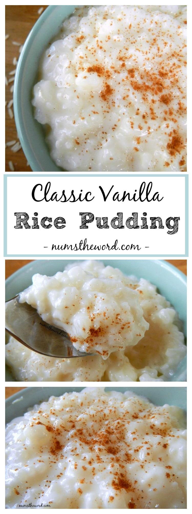 Classic Vanilla Rice Pudding