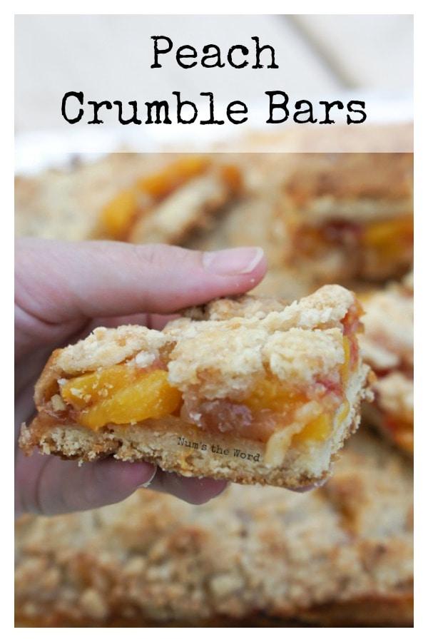 Peach Crumble Bars - Num's the Word