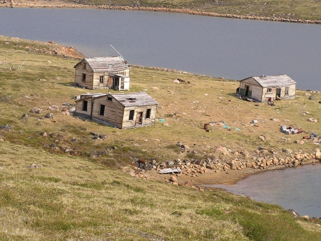Old Hudson Bay Company buildings in Ukkusiksalik National Park, Nunavut