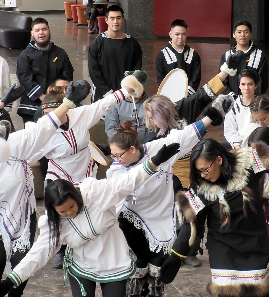 Nunavut Sivuniksavut students perform at Ottawa's National Arts Centre