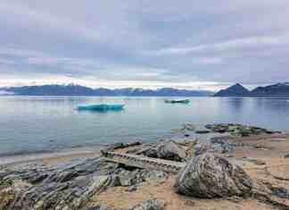 """0110Katrina Germino_WINNER Katrina Germino Pond Inlet This photo was taken last August. Friendly people and beautiful community. Mountains, icebergs and glaciers. Truly Pond Inlet is one of Canada's """"jewels of the North""""."""