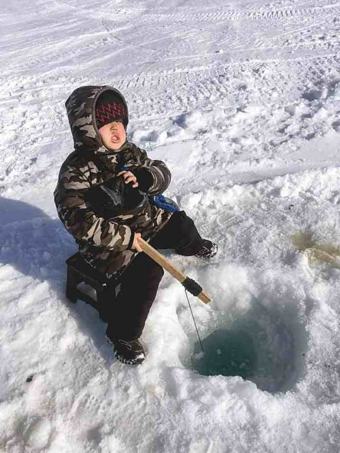 Joanna Curley Paliksalik, Arviat. This was year 2018 fishing derby season in Arviat. My 5-year-old son Ezekiel enjoying trying to catch big fish.