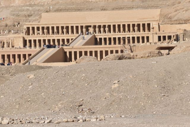 Panoramica del templo de Hatshepsut