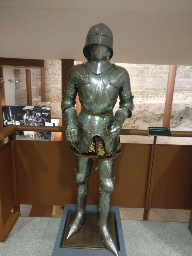 Antigua armadura del ejército español