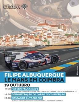 Filipe Albuquerque nas ruas de Coimbra com o Ligier LMP2
