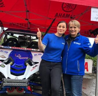 Heinz Kinigadner e Jutta Kleinschmidt de SSV na Baja Portalegre 500