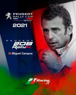 Miguel Campos com programa na  Peugeot Rally Cup Ibérica em 2021