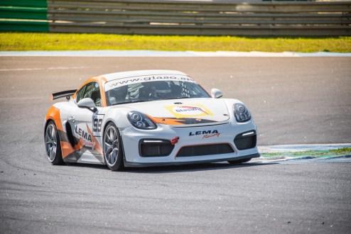 Francisco Carvalho e Jorge Rodrigues juntos num Porsche Cayman GT4