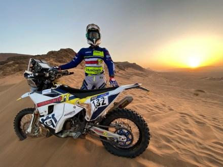 Bruno Santos de Husqvarna no Rallye du Maroc