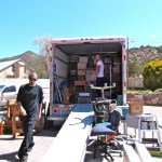 Movers pack the truck wonderfully.