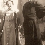 Founder, Father Gerald s.P., with our first Handmaid, Sister Elizabeth of the Trinity.