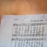 The offertory hymn.