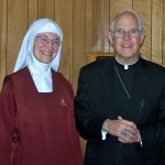 Rev. Mother Marietta and Archbishop Sheehan
