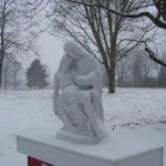 Snow covered Pieta.