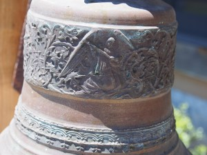 Detail of an angel on the bell.