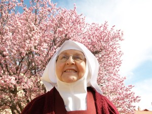 Sister Mel Pierre enjoying a Spring day in New Mexico.
