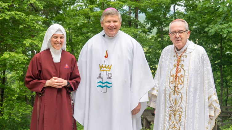Sister with Bishop Stika and Cardinal Rigali