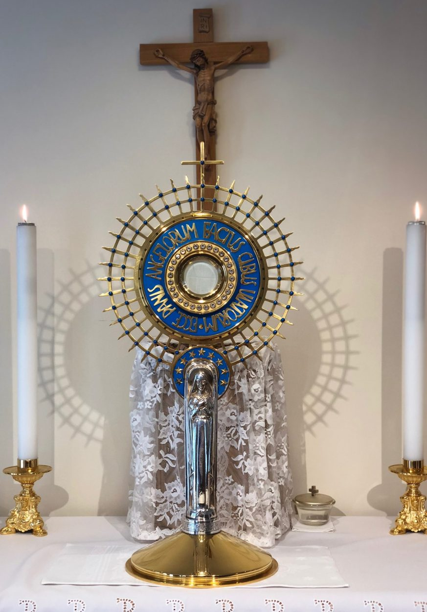 Blue Marian Monstrance