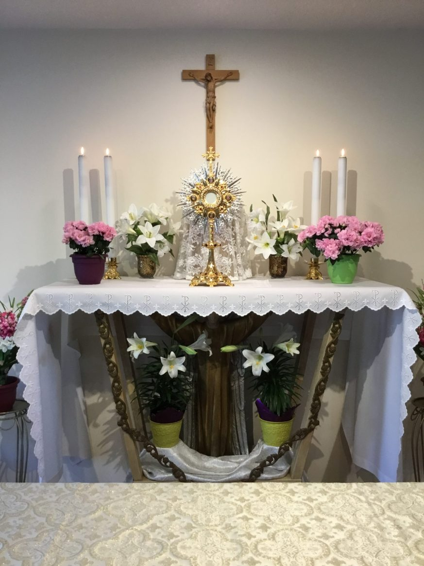 Easter season Adoration Altar