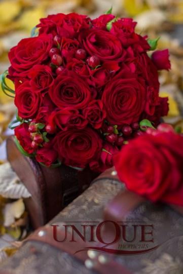 Buchet mireasa Iasi trandafiri rosi