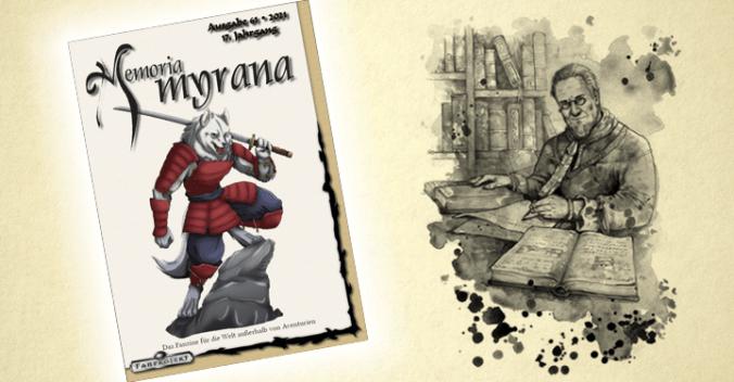 Cover der Memoria Myrana 61 und Darstellung Engors