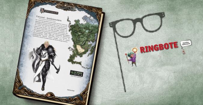 Backcover des Spielleiterschirms und Logo des Ringboten