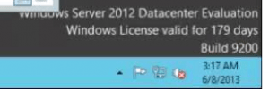 CaraActivating Windows Server 2012 R2 Standard Data Center Evaluation