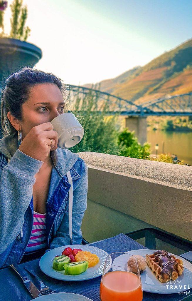 Café da manhã no The Vintage House, na Região do Douro