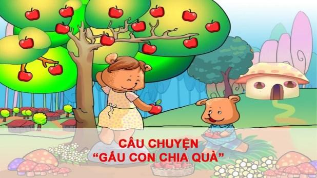 Truyện cho bé 5 tuổi số 1: Gấu con chia quà