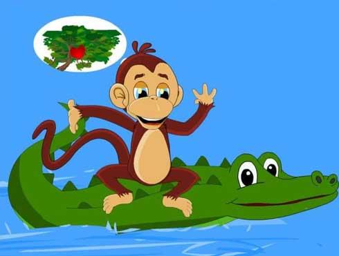 Truyện cho bé 1 tuổi số 6:Khỉ và cá sấu