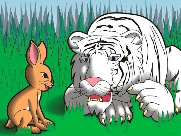 Truyện về các con vật sống trong rừng số 1: Truyện cổ tích về con hổ và thỏ