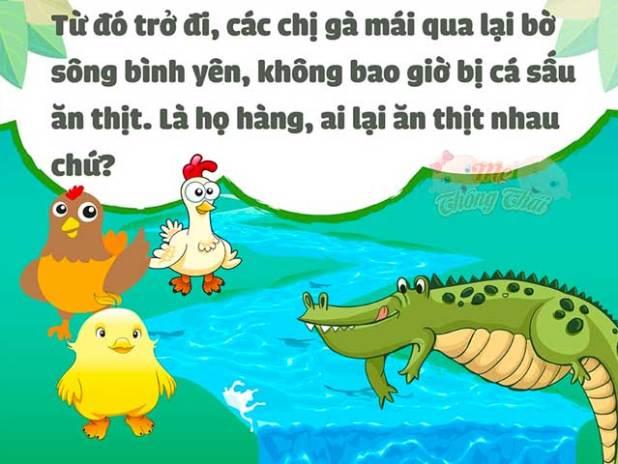 Truyện về các con vật sống trong rừng số 3: Chuyện về anh cá sấu và chị gà mái