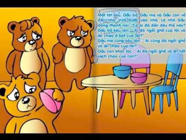 Truyện về các con vật sống trong rừng số 8: Truyện cổ tích về con gấu:Ba con Gấu
