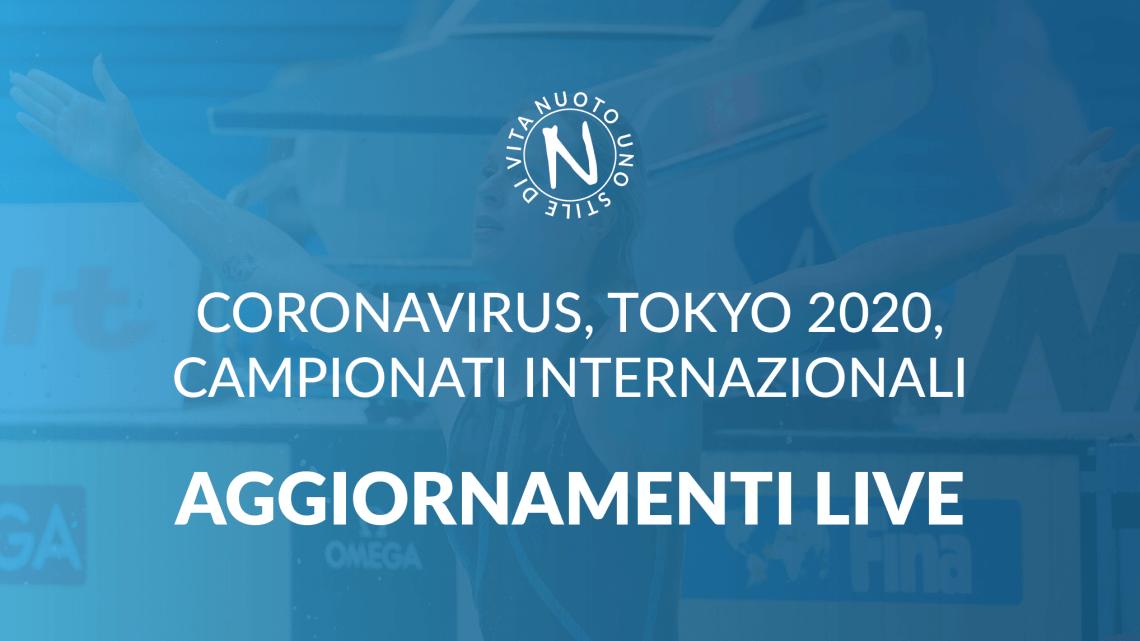 AGGIORNAMENTI LIVE: CORONAVIRUS, TOKYO 2020, NUOTO 1