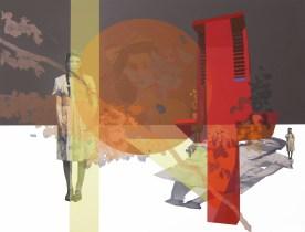 Anna Caruso - 7 miliardi, 2014, acrilico su tela, 100x125 cm