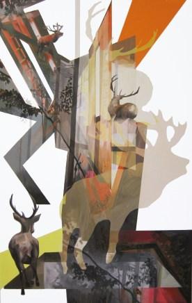 Anna Caruso, Epifania della fuga, acrilico su tela, 150x100 cm, 2014