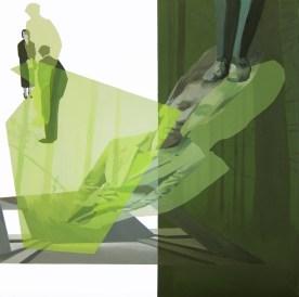 Anna Caruso - Parlano di me, acrilico su tela, 25x25cm, 2014