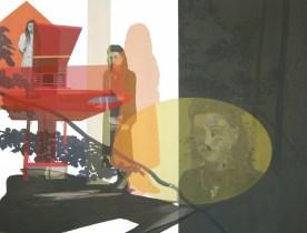 Anna Caruso - senza titolo, 2014, acrilico su tela, 100x125cm