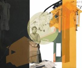 anna caruso - toeletta, acrilico su tela, 50x60cm, 2014m