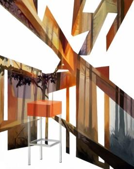 Anna Caruso,L'orlo,2014,acrilico su tela, 50x40cm