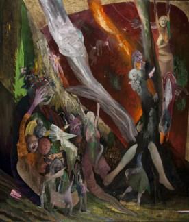 Chiara Sorgato, Bruciatela!Per il suo bene!, olio su tela 120x140cm, 2013