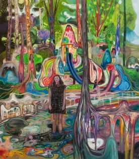 Bruno Marrapodi, Vieni a giocare con me, 2013, tecnica mista su tela, 200 x 175 cm
