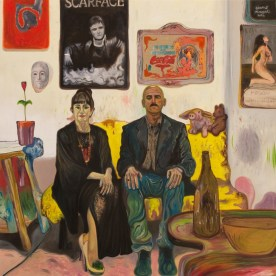 Bruno Marrapodi, Voglio il divorzio, 2014, tecnica mista su tela, 120 x 120 cm