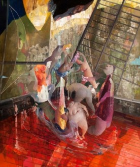 Labirintite(la stessa barca ovvero delirio sul mare),olio su tela 100x120cm, 2014